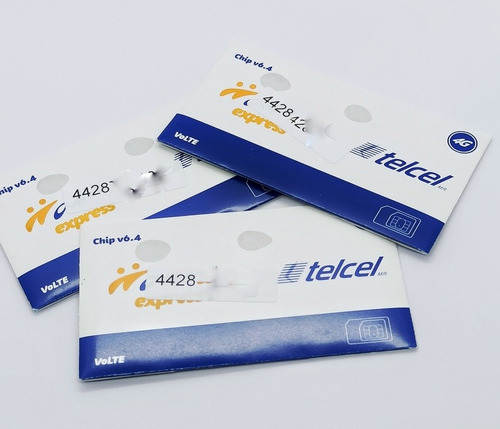 Chip Telcel V 6.4 Pack 20 Pzs Con 50 T. A. Incluído R6 442