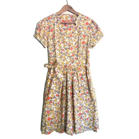 Vestido Casual Em Tecido Estampado - Tam 38