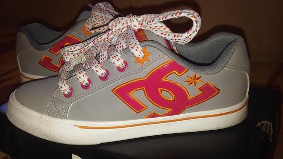 Zapatillas Mujer Dc Nuevas Modelo Aubrey N° 35 Usa