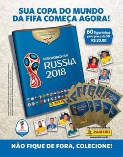 Kit Cartela + Figurinhas Copa Do Mundo Fifa 2018 - 12 Envelo