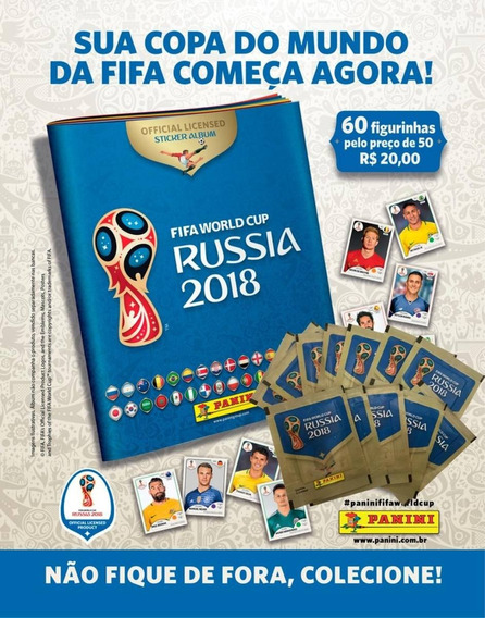 Kit Cartela + Figurinhas Copa Do Mundo Fifa 2018 - 12 Envelo
