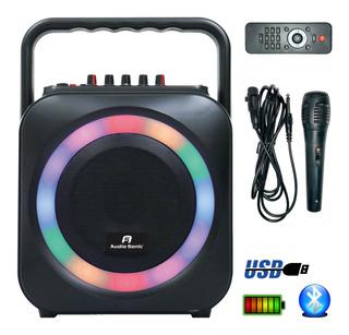 Parlante Bafle Bluetooth Para Karaoke Usb Bateria Radio