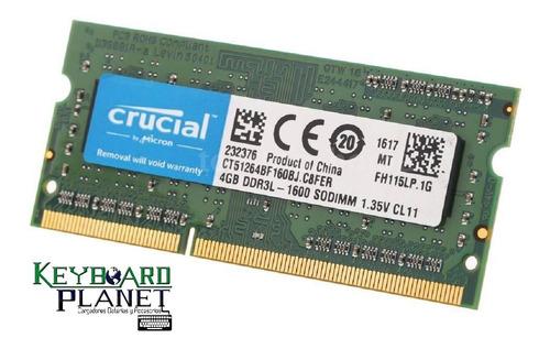Memoria Ram Ddr3 4gb 1600 Sodimm Laptop