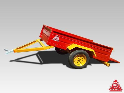 Acoplado Vehicular 1 Eje Roland H700 + Luces Y Neumáticos