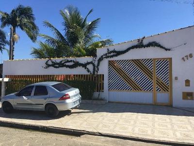 Bela Chácara Em Itanhaém-sp, Lado Praia! Possui 4 Quartos!!!
