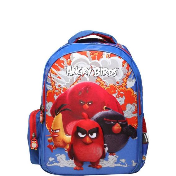 Mochila Santino 3d Angry Birds Azul/vermelha Abm800702