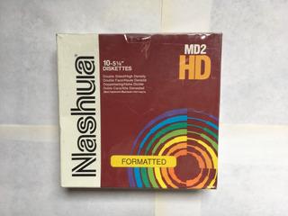 Nashua Diskettes 5.25 X 10 Nuevo