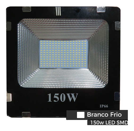 Kit C/4pçs Holofote Refletor Led 150w Branco Quente Ip66