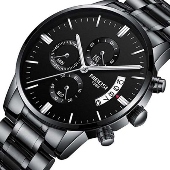 Relógio Nibosi 2309 Preto Esporte Casual Quartzo Original