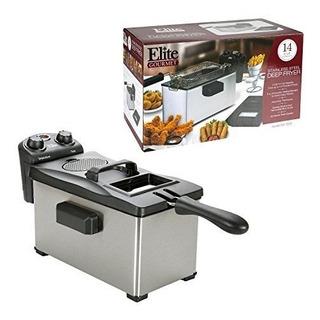 Elite Gourmet Edf-3500 Maxi-matic 3.5 Quart Fryer, Acero Ino