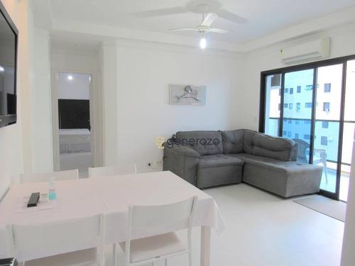 Apartamento Na Praia De Pitangueiras, 02 Dormitórios, 02 Vagas De Garagem - Ap0422
