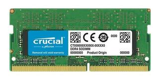 Memoria Ram Notebook Crucial + 8gb Ram + Ddr4-2400