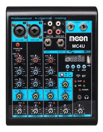 Consola Mixer 4 Entradas Bluetooth Usb Micrófonos By Dancis
