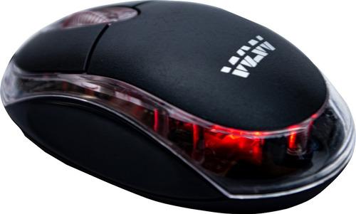Mouse Óptico Wlw Wlw-002 Preto