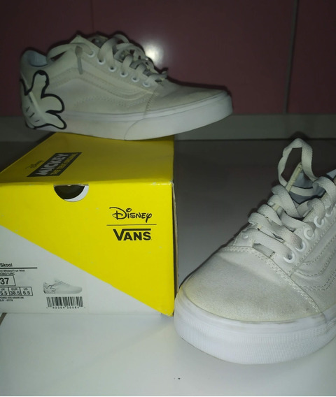 Tenis Old Skool Vans Branco Disney