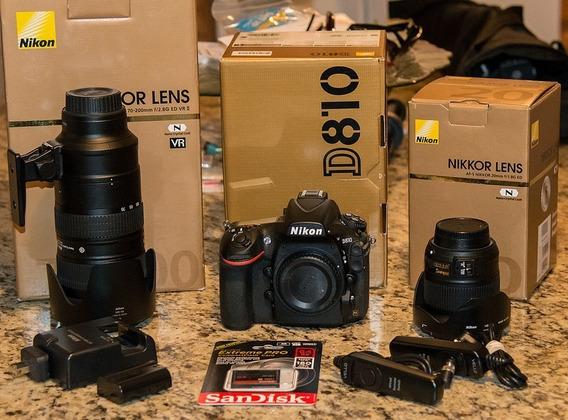 Nikon D810 + Kit ( Bolsa Tripé Grip 64gb )