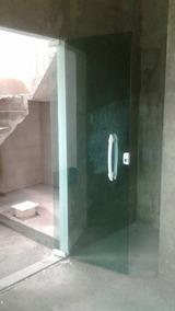 Porta De Blindex Verde 8mm 210x80
