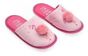 Pantufa Com Pompom Flamingos P Ludi