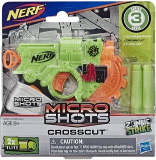 Nerf Lanzador De Corte Transversal Microshots Zombie Strike