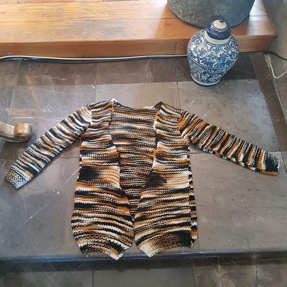 Bonito Sweater Largo Tejido De Tigre