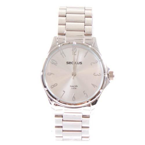 Relógio Seculus Cromado Unissex 20461l0svna1 Original