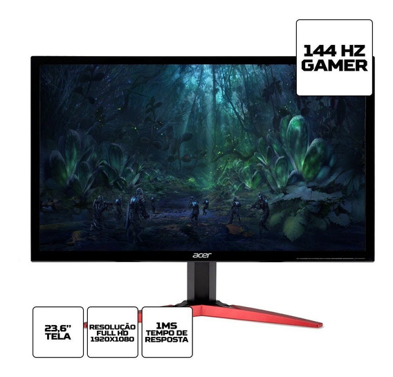 Monitor Acer Gamer 23.6 Led Full Hd Kg241q 2xhdmi Vesa