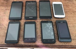 Lote De 8 Celulares Motorola Samsung Nokia Positivo Etc