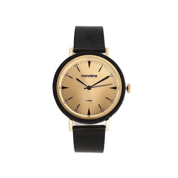 Relógio Mondaine Feminino Casual Preto 89001lpmvhe5