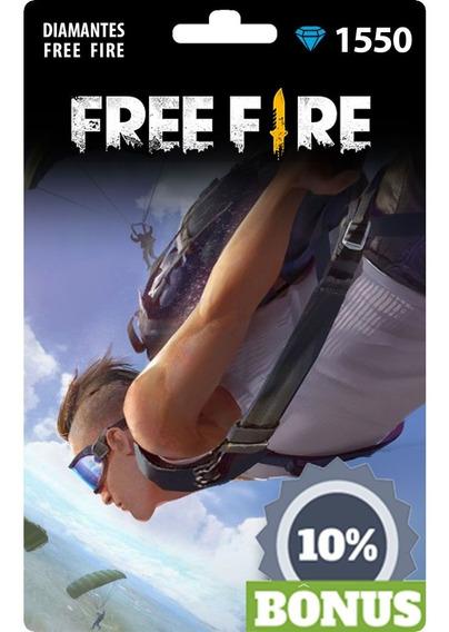 1550 Diamantes Para Free Fire +155 De Bonus