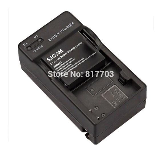 1 Bateria 900 + 1 Carreg Veicular Para Eken H8 H9 E Sjcam
