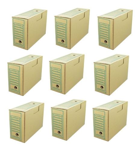 Arquivo Morto Papelão Oficio 360x140x240 Kit C/10 Unidades