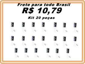 Capacitor Eletrolitico 1000uf X 25v Kit 20 Pçs Pronta Entreg
