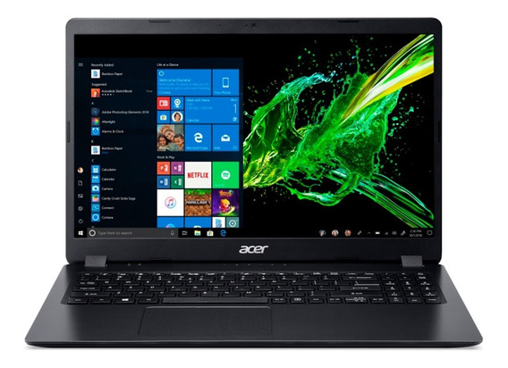 Notebook Acer I3 7020u 4gb 1tb Windows 10 15.6 Gtía Oficial
