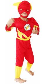 Fantasia Infantil Capitão América Ou Do Flash Com Músculo