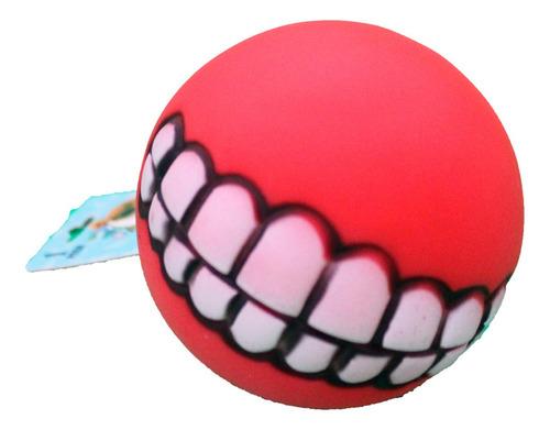Brinquedo Pet - Bola Com Sorriso De Borracha Cor:vermelho
