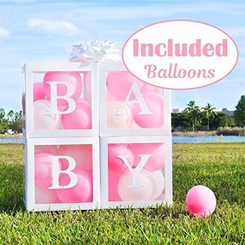 Cajas De Baby Shower Para Decoraciones De Fiesta Niña 24 Glo