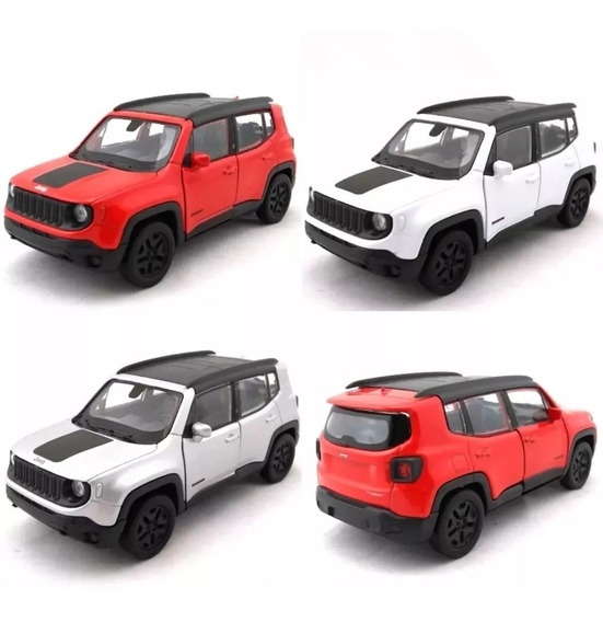 Kit C/ 4 Miniaturas De Jeep Renegade Escala 1/32