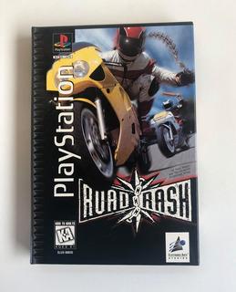 Road Rash Ps1 Original Americano Longbox Black Label