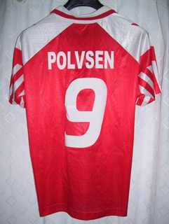 Dinamarca Campeon Euro 1992 Joya Hummel #9 Polvsen Sin Usar