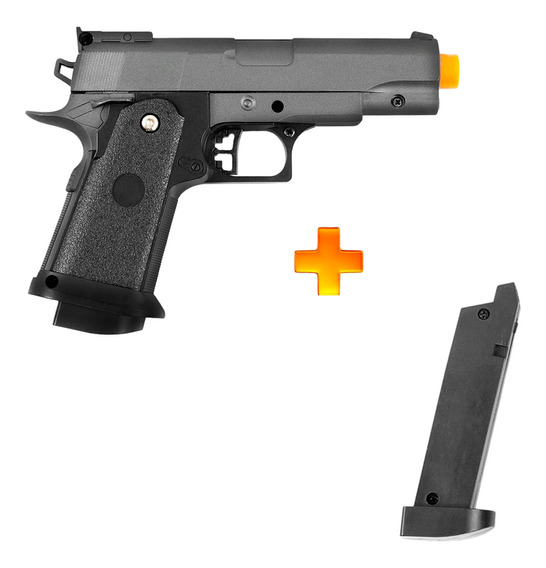Pistola De Airsoft Spring G10 Full Metal 6mm - Galaxy + 1 Mag Extra