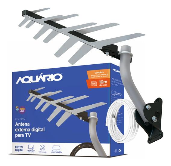 Antena Externa Digital Completa P/ Instalar Aquário Dtv-1500