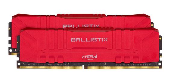 Memoria Crucial Ballistix 32gb 3200 Ddr4 Rojo 2x16 Mexx 3