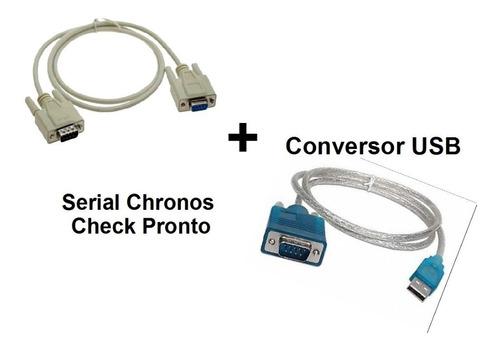 Cabo Impressora Chronos Check + Conversor Usb + Cd Software