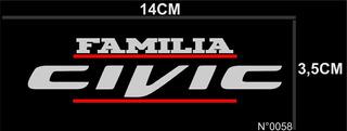 Adesivo Familia Civic Kit C/2