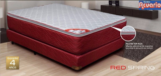 Sommier 1,40x1,90mts Con Resortes Y Pillow Gani Red Spring