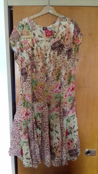 Vendo Vestido Informal Floreado Talle Xl Para Dama