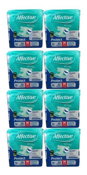 Caja Pañal Para Adulto Affective Active Med Con 8 Paquetes