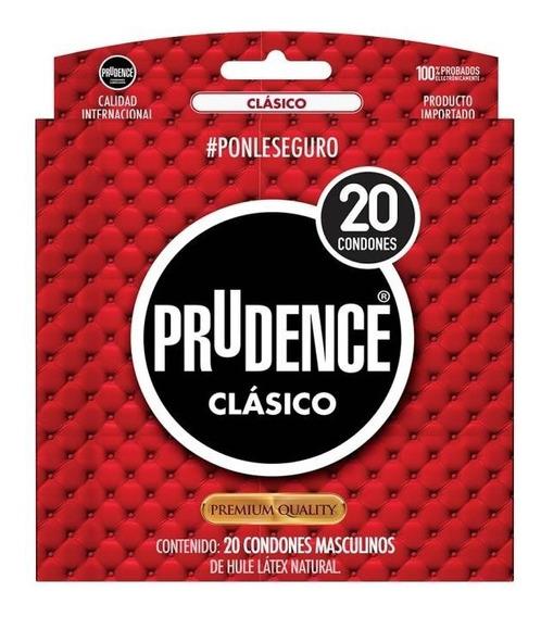 Paquete 20 Condones Prudence® Clásicos Lubricados