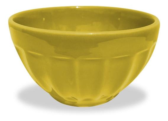Bowl Mediano Facetado Cerealero Ceramica 600 Ml Colores