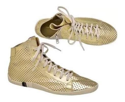 Osklen Riva Gold Bota / Tênis Feminino Couro Original